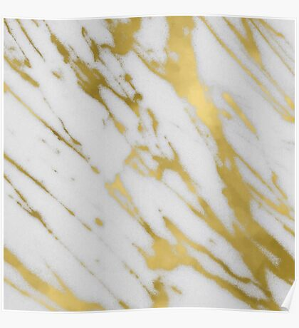 Marble - Gold Marble Poster