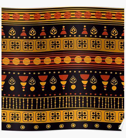 Dark African Pattern Poster