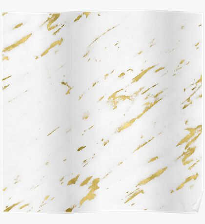 Marble - Yellow Gold Marble Design Poster