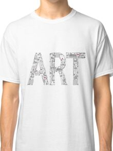 Art - inscription of the tools of the artist. Classic T-Shirt