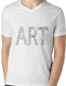 Art - inscription of the tools of the artist. Mens V-Neck T-Shirt