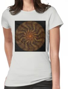 Wood Disk Mandala Womens Fitted T-Shirt