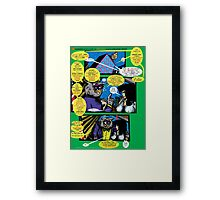 Bird of Steel Comix – # 6 of 8 -  (Red Bubble POP-ART COLLECTION SERIES)  Framed Print