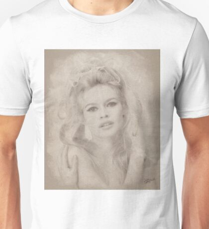 Brigitte Bardot, Vintage Hollywood Actress Unisex T-Shirt