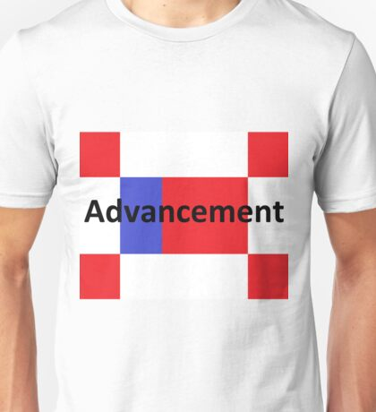 Advancement flag with The Word Advancement Unisex T-Shirt
