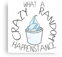 """Crazy Random Happenstance"" Dr Horrible Canvas Print"