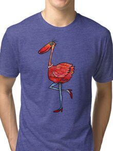 Flamingo Fashionista Tri-blend T-Shirt
