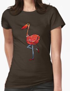 Flamingo Fashionista Womens Fitted T-Shirt