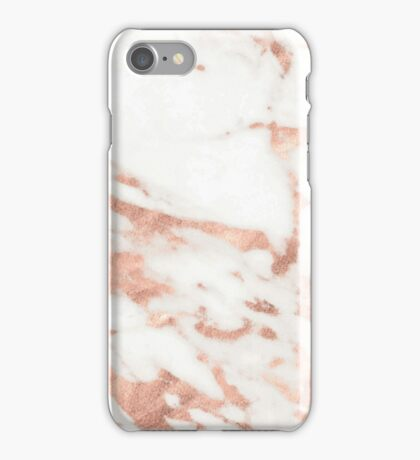 Marble - Metallic Rose Gold Marble Pattern iPhone Case/Skin