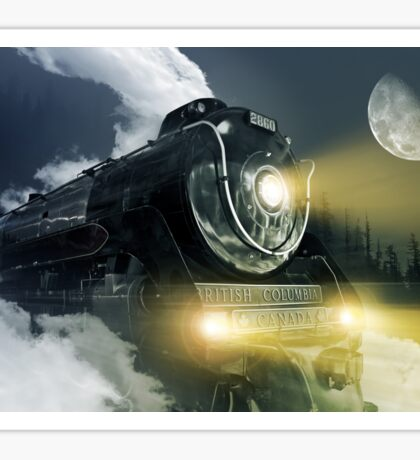 Steam Locomotive Sticker