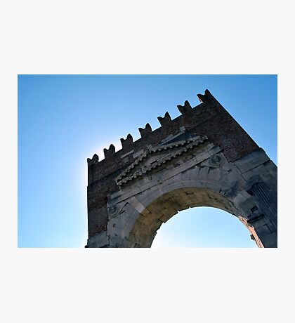 Antic arch in Foligno, Italy Photographic Print