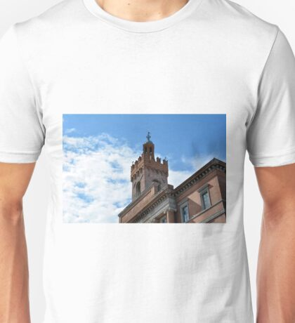 Important brick building in Foligno, Italy Unisex T-Shirt