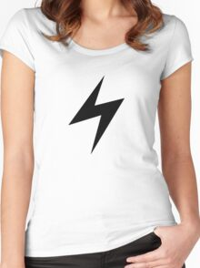 Electric Type Symbol Women's Fitted Scoop T-Shirt