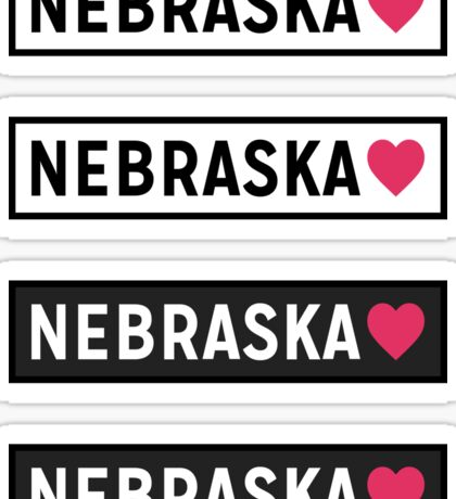 Nebraska BW Sticker
