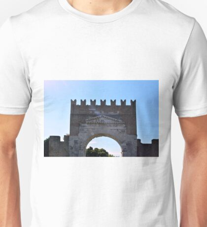 Antic arch in Foligno, Italy Unisex T-Shirt