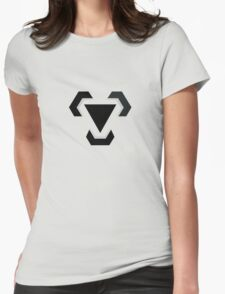 Metal Type Symbol Womens Fitted T-Shirt