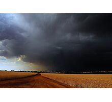 Wheatbelt Thunderstorm Photographic Print