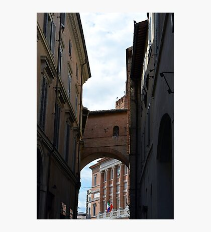 Narrow street in Foligno, Italy Photographic Print