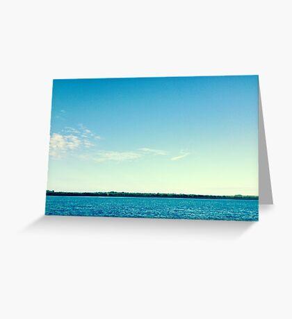 the Water Horizon Greeting Card