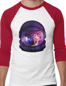 Astronaut Galaxy Wolf  Men's Baseball ¾ T-Shirt