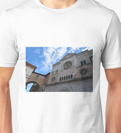 Cathedral with rosette in Foligno  Italy  Unisex T-Shirt
