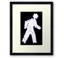 Crossing Man, Blue Framed Print