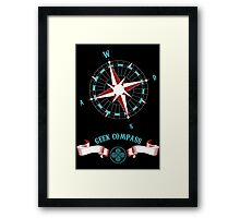 Geek Compass Framed Print