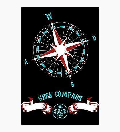 Geek Compass Photographic Print
