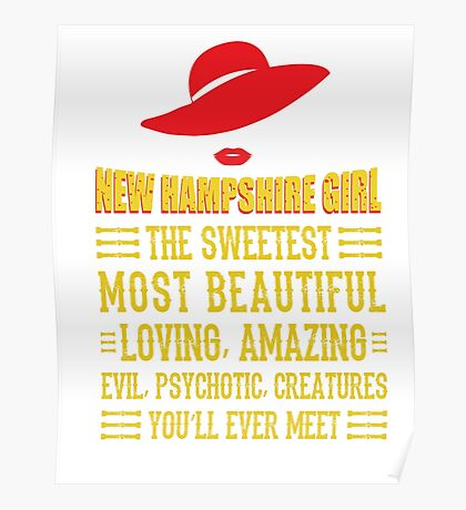 New Hampshire Girl Poster