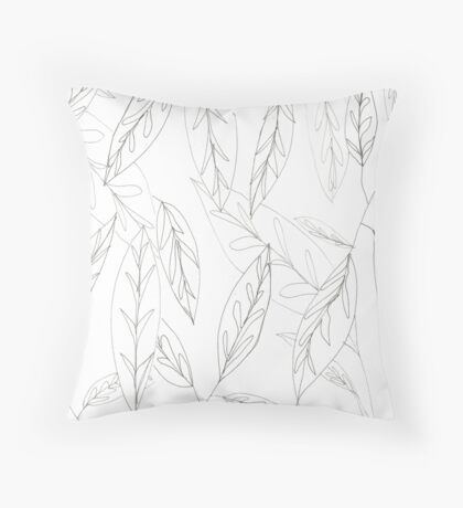Lost In Leaves Throw Pillow