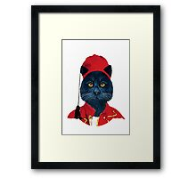Charming Greek Cat Framed Print