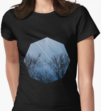 Landscape in the winter Womens Fitted T-Shirt