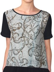 Frost Pattern on Outdoor Table Chiffon Top