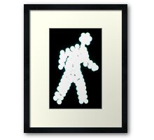 Crossing Man, Turquoise Framed Print