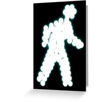 Crossing Man, Turquoise Greeting Card
