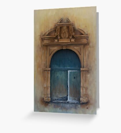 Internal Door Greeting Card