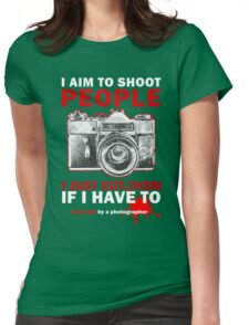 Sincerely, Photographer Womens Fitted T-Shirt
