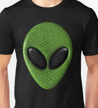 Alien Face With Green Scales Unisex T-Shirt