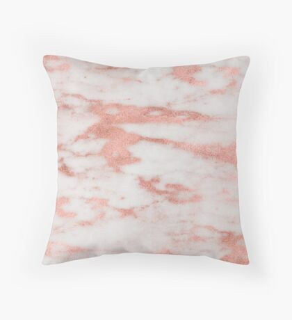 Dolcedo  - rose gold marble Throw Pillow