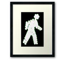 Crossing Man, Green Framed Print