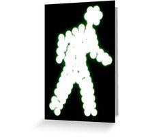 Crossing Man, Green Greeting Card