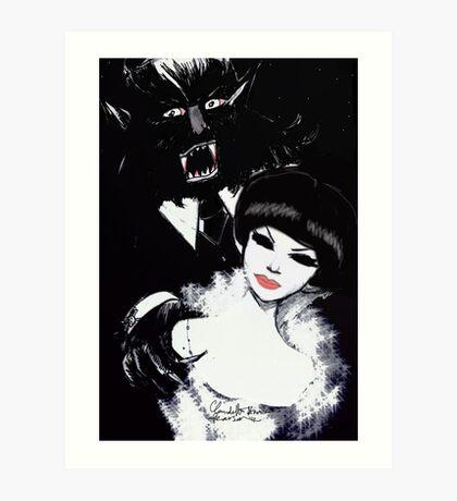 Mr and Mrs Wolf Art Print
