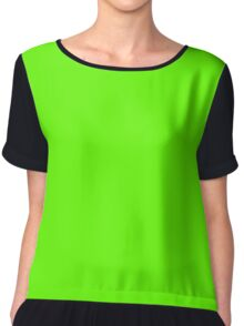 Bright Green Chiffon Top
