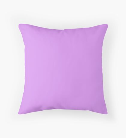 Bright Lilac Throw Pillow