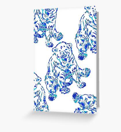 Blue Polar Bears Greeting Card
