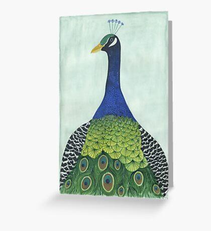 Pfau Greeting Card