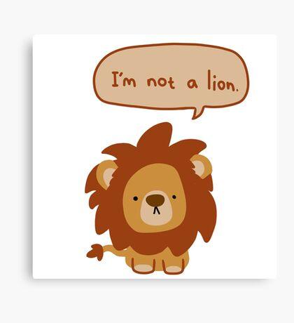 Lying Lion Canvas Print