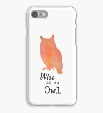 Wise as an Owl iPhone Case/Skin