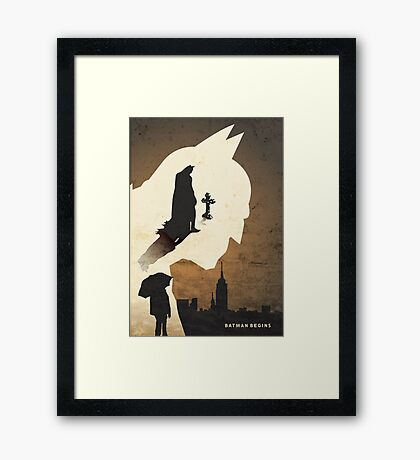 Batman Begins Framed Print