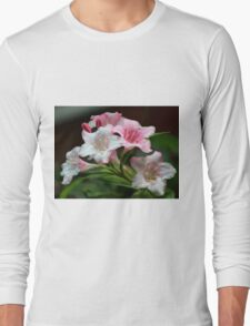 White pink flowers. Long Sleeve T-Shirt